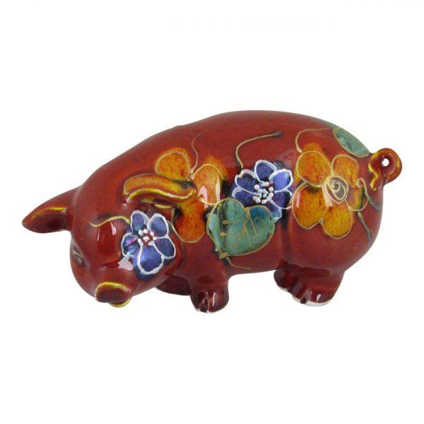 Small Pig Garland Design Anita Harris Art Pottery