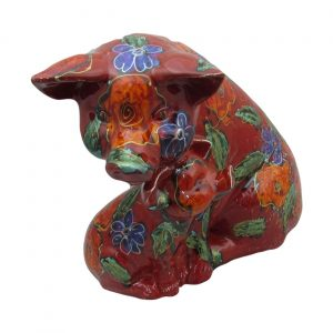 Large Pig with Piglet Figure Garland Design Anita Harris Art Pottery