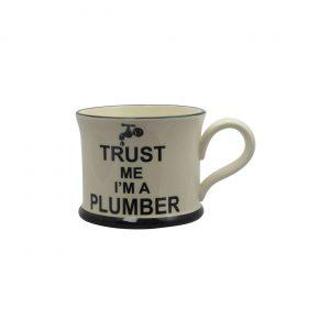 Moorland Pottery Mug Trust Me I'm A Plumber