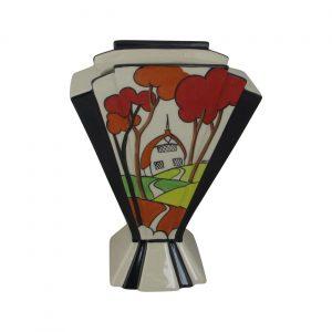 Marie Graves Ceramic Artist Fan Vase Red Brook Cottage Design