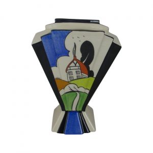 Marie Graves Ceramic Artist Fan Vase Shawbury House Design.