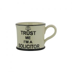 Moorland Pottery Mug Trust Me I'm A Solicitor
