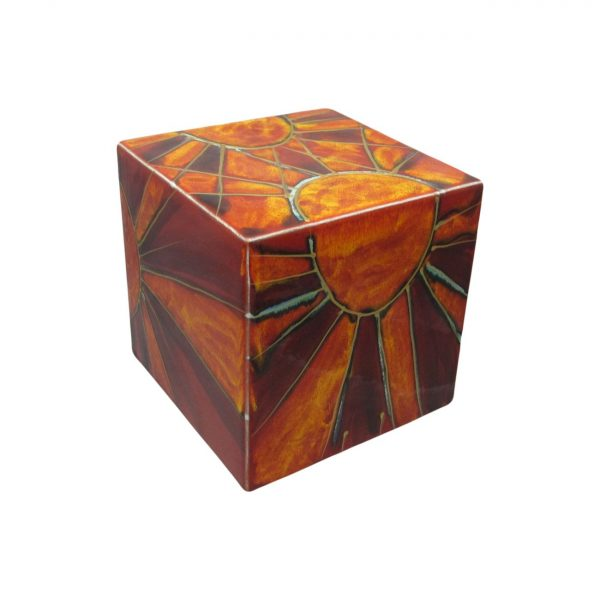 Decorative Cube Sunray Design Anita Harris Art Pottery