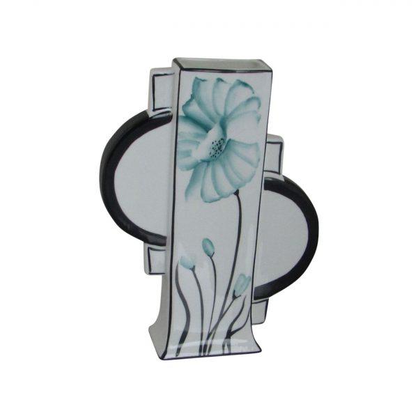 Emma Bailey Ceramics Geo Vase Teal Poppy Design