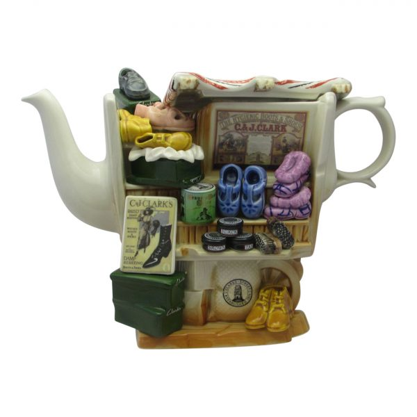 Shoe Market Stall Teapot Produced by Paul Cardew