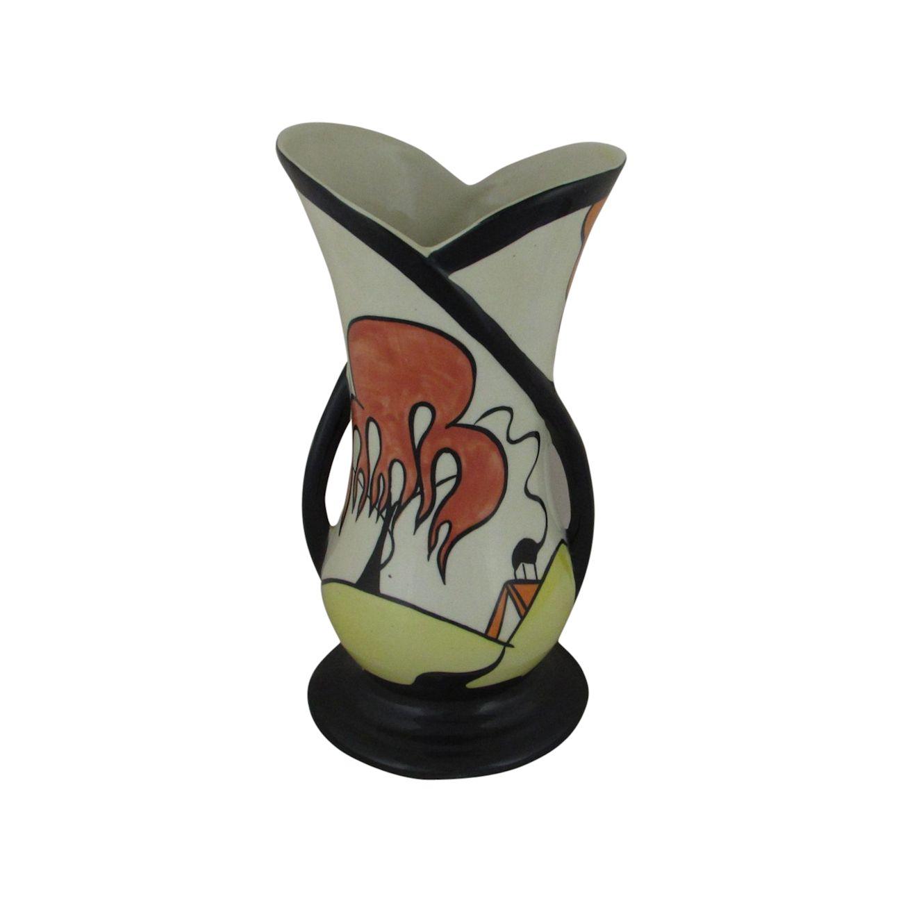 Lorna Bailey Dingle Porthill Design Two Handled Vase