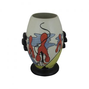Inglewood Design Three Knob Vase Lorna Bailey Art Ware
