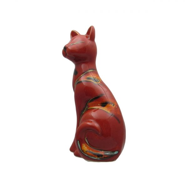 Sitting Cat Figure Abstract Design by Anita Harris Art Pottery