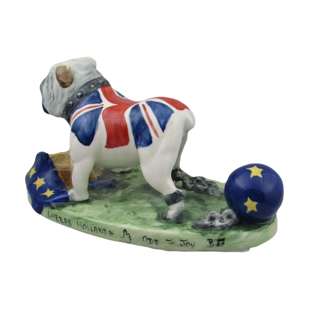 Brexit Bulldog Figure By Bairstow Pottery Collectables Stoke Art Pottery