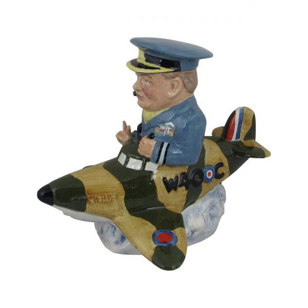 Winston Churchill Spitfire Figure Bairstow Pottery