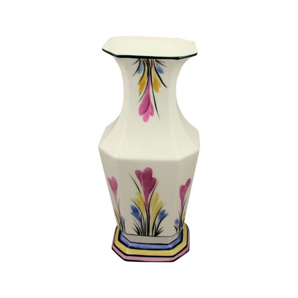 Crocus Design Hexagon Vase by Emma Bailey Ceramics
