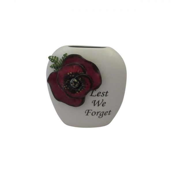 Anita Harris Art Pottery 12cm Purse Vase Lest We Forget Design