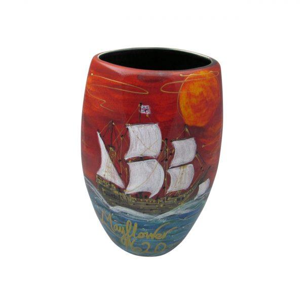 Mayflower Design Vase Anita Harris Art Pottery