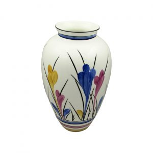 Tall Round Vase Crocus Design Emma Bailey Ceramics