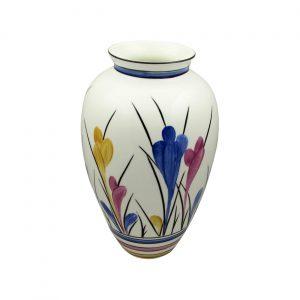 Tall Round Vase Crocus Design Emma Bailey Ceramics