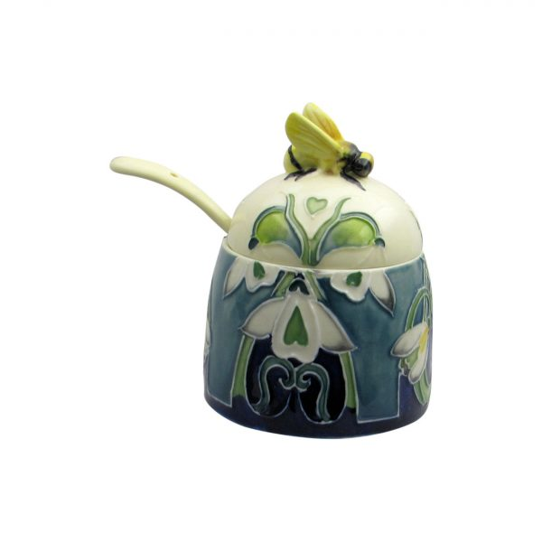 Old Tupton Ware Snowdrop Design Honey Pot
