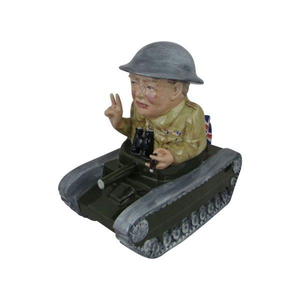Winston Churchill Tank Figure Bairstow Pottery