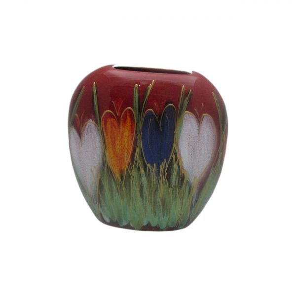 Crocus Design 12cm Vase Anita Harris Art Pottery