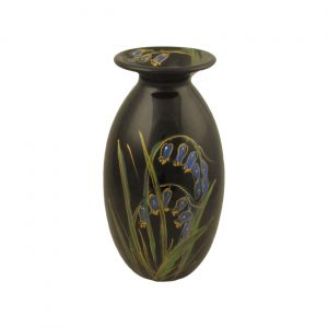 Black Bluebell Lustre Design 21cm Vase Anita Harris Art Pottery