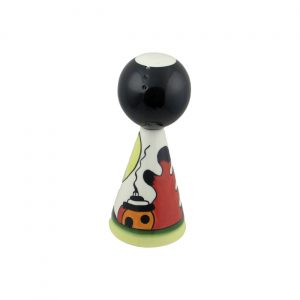 Lorna Bailey Art Ware Conical Pepper Pot Dingle Cottage Design