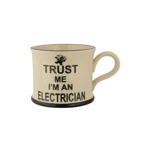 Moorland Pottery Trust Me Mug I'm An Electrician