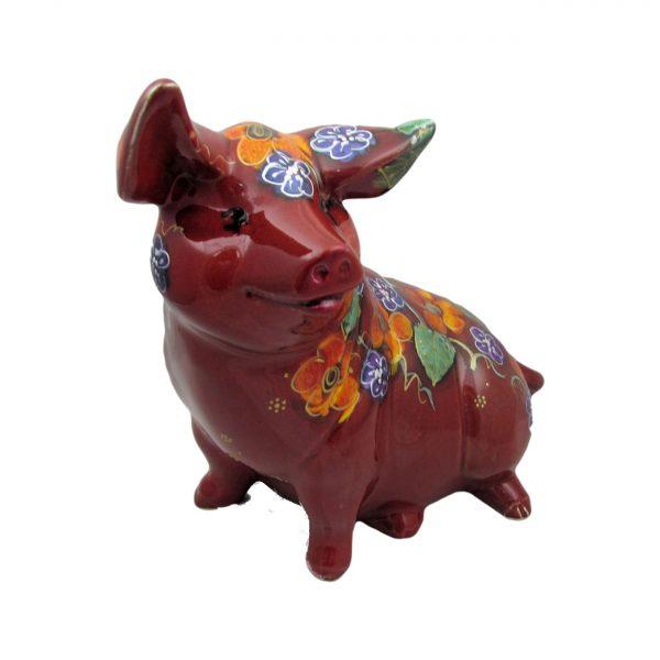 Large Sitting Pig Garland Design Anita Harris Art Pottery