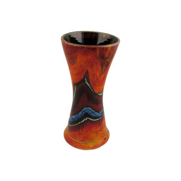 Volcanic Sea Design Vase by Anita Harris Art Pottery