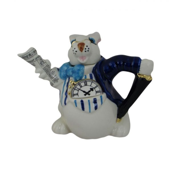 Alice in Wonderland White Rabbit Novelty Teapot Paul Cardew