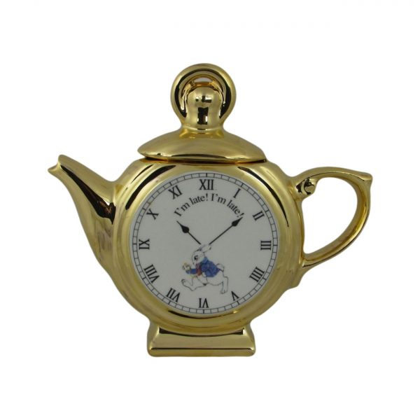 Alice in Wonderland Pocket Watch Novelty Teapot Paul Cardew