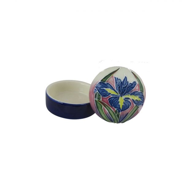 Old Tupton Ware Trinket Box Iris Design