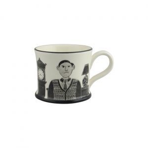 Moorland Pottery Mug Grumpy Old Man Design