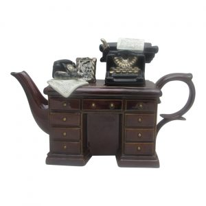 Crime Writers Desk Teapot Large Size by Paul Cardew