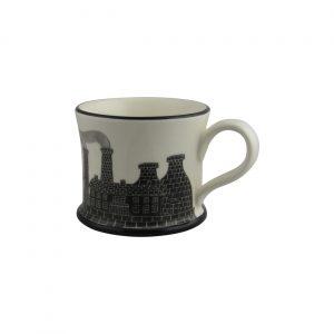 Moorland Pottery Mug Pits N Pots Design Stokie Ware