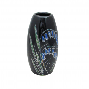 Black Bluebell Lustre 17cm Vase Anita Harris Art Pottery