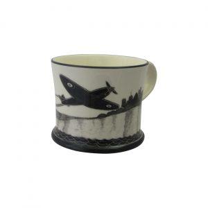 Moorland Pottery Mug Spitfire Design