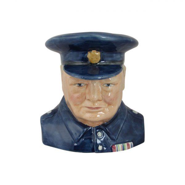 Winston Churchill Toby Jug Carltonware Light Blue Colourway