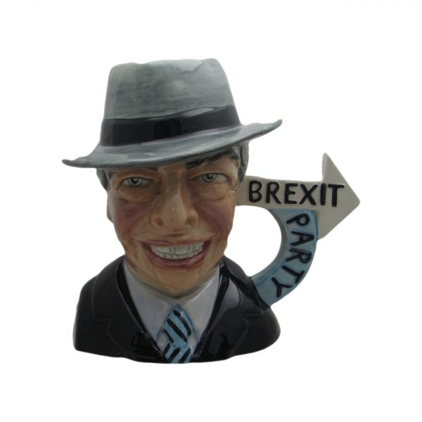 Nigel Farage Character Jug Grey Hat Edition Bairstow Pottery