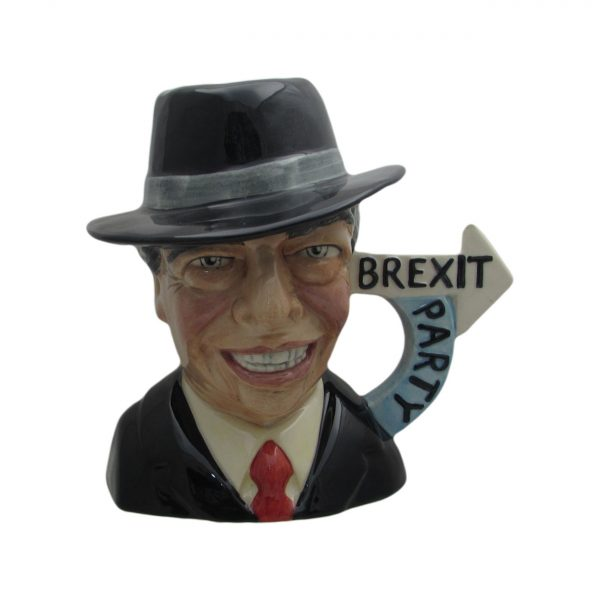 Nigel Farage Brexit Party Toby Jug Bairstow Pottery
