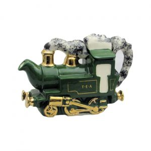 Locomotive One Cup Teapot Green Carters of Suffolk