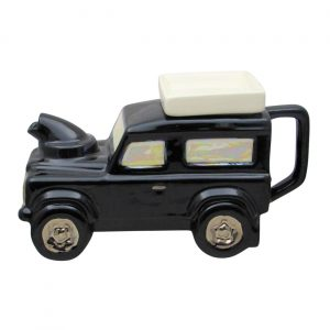 Landrover Teapot Black Colourway Made by Ceramic Inspirations