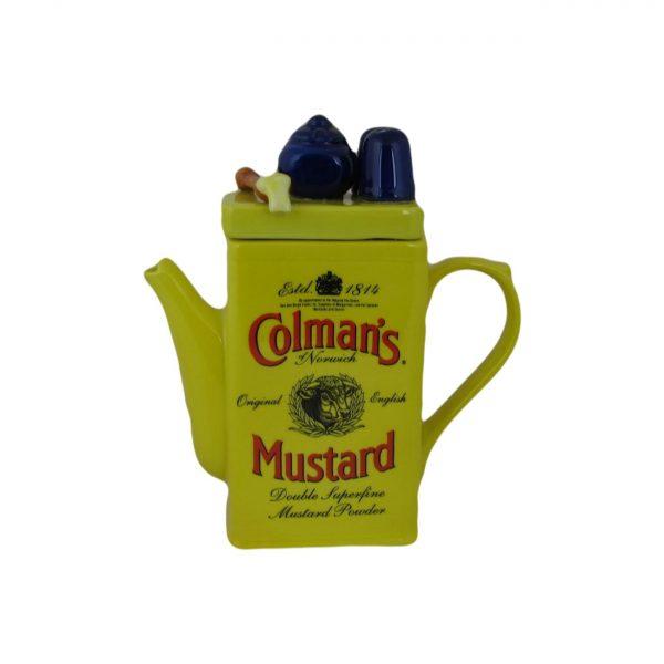 Colmans Mustard Tin Novelty Teapot Ceramic Inspirations