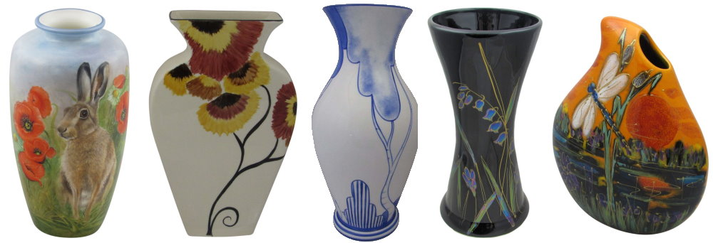 hand painted art pottery