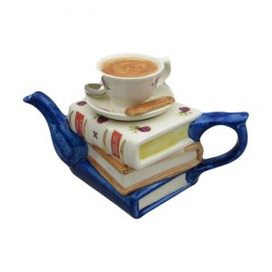 Jane Austen Books with Tea Teapot Carters of Suffolk