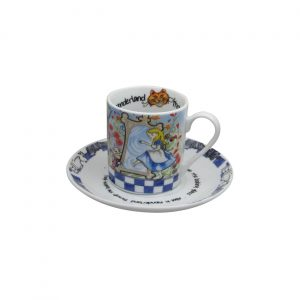 Alice Look Through The Looking Glass Cup & Saucer Paul Cardew