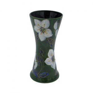 Christmas Rose Design 24cm Vase Anita Harris Art Pottery