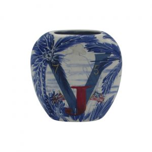 V J Day UK Design Vase by Anita Harris Art Pottery