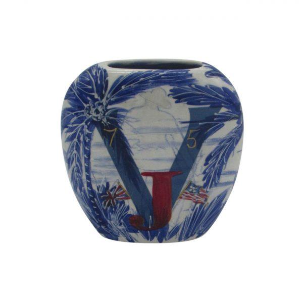 V J Day UK Design Vase by Anita Harris Art Pottery