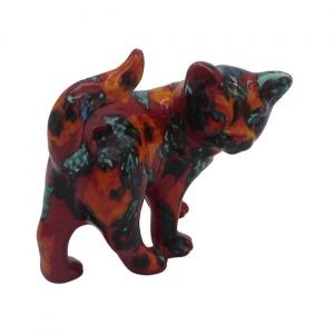 Floral Design Kitten Figure Anita Harris Art Pottery
