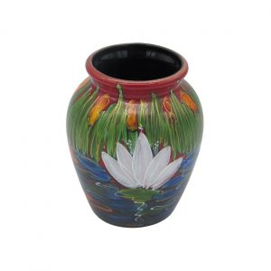 Water Lily Design 13cm Vase Anita Harris Art Pottery