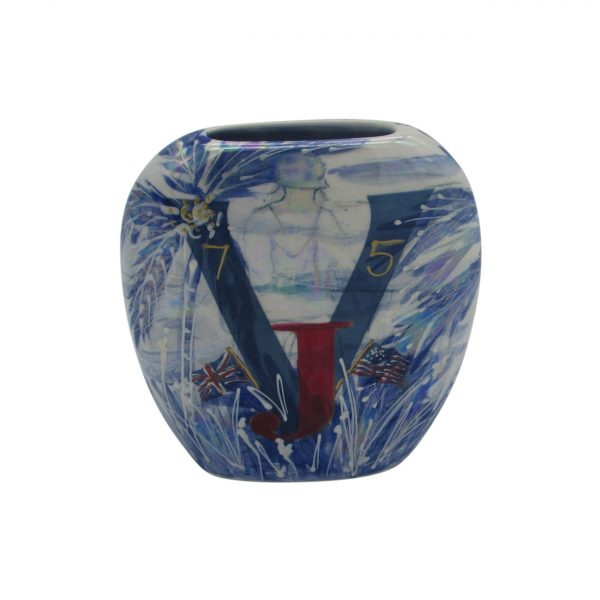 V J Day USA Design Vase by Anita Harris Art Pottery